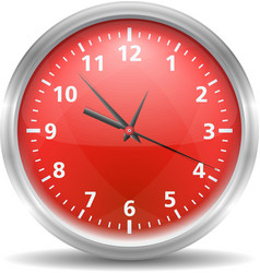 Red Clock vector image