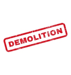 Demolition text rubber stamp vector