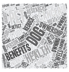 Dogs and pets provide health benefits text vector