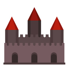 Castle tower icon isolated vector