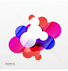 Colorful flowing shapes vector