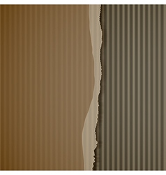 Torn corrugated cardboard vector