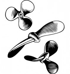 vector screw propeller vector image