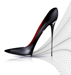 black shoe and veil vector image