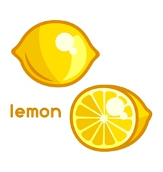 Stylized of fresh lemon on white vector