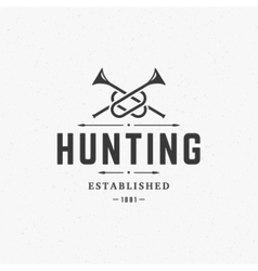 Hunting Club Vintage Logo Template Emblem Cross vector image