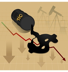 Business energy oil price down vector
