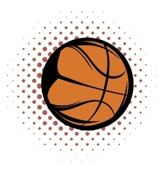 Basketball comics icon vector