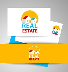Real estate logo identity vector