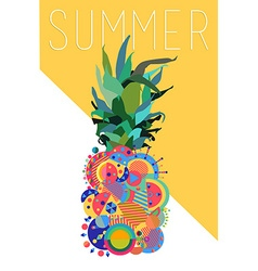 Colorful summer pineapple geometric modern design vector