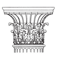 Antique corinthian greece vector