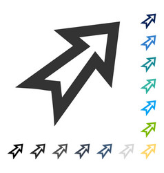 Arrow right up icon vector