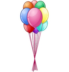 Colorful balloons on string vector