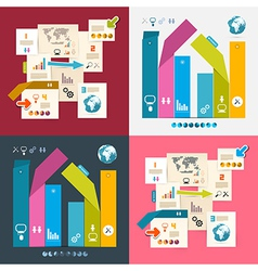 Colorful Infographics Paper Layout Set vector image