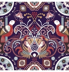 Colorful seamless pattern with decorative birds vector image vector image