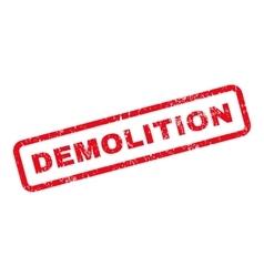 Demolition text rubber stamp vector