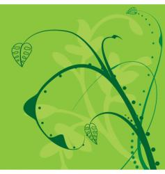 floral twirl design vector image vector image