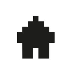 Icon isolated in a modern style a pixel home vector