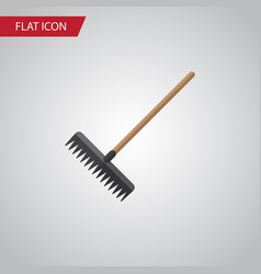 isolated rake flat icon harrow element can vector image