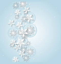 Light blue Christmas background with winter vector image vector image