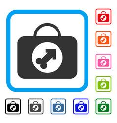 Male erection case framed icon vector