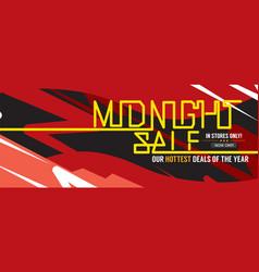 Midnight sale hottest deal wide banner vector