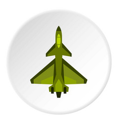 Military fighter jet icon circle vector