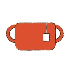 Mug tea two hang breakfast sketch vector