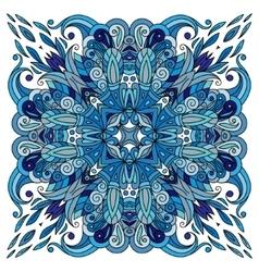 Ornamental doodle floral pattern design for vector image