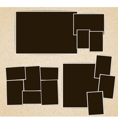 Photo frames in retro album vector image