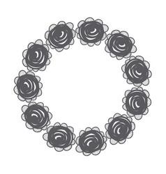 Rustic emblem roses design vector
