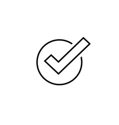 Tick icon symbol line art outline vector