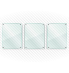 Transparent Glass Frames vector image vector image