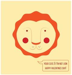 Valentines day lion vector