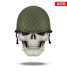Military us helmet m1 wwii and skull vector