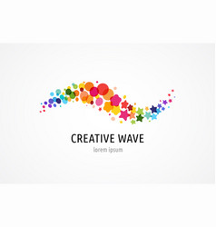 Creative digital abstract colorful icons logos vector