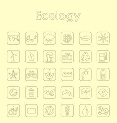 Set of ecology simple icons vector
