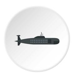 Military submarine icon circle vector