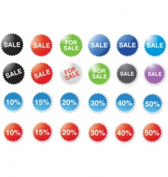Candy price stickers vector