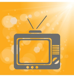 Old tv on a yellow background vector