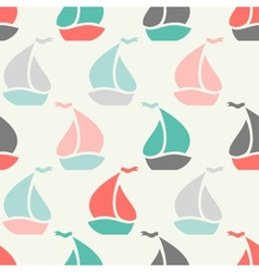 Sailboat shape seamless pattern vector