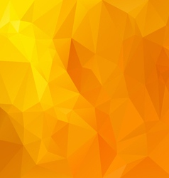 Yellow orange polygonal triangular pattern vector