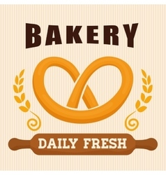 Bakery shop advert vector