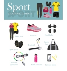 Fitness isolated icons set and banner sport vector