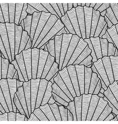 Marine seamless pattern with stylized seashells vector