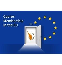 European union flag wall with cyprus flag door eu vector