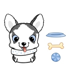 Cute siberian husky puppy vector