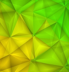 Abstract geometrical green and yellow background vector image vector image
