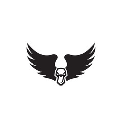 Angry Mallard Duck Head Wings Retro vector image vector image