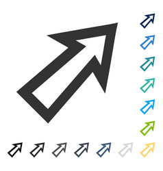 Arrow right up icon vector